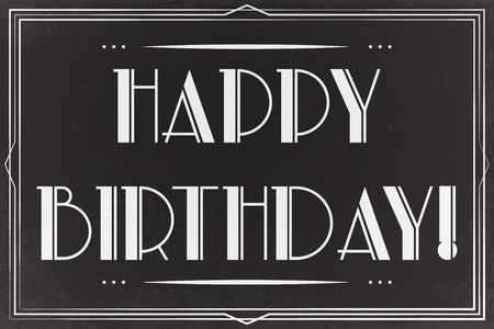 imperfections: happy birthday greeting card, illustration vector format