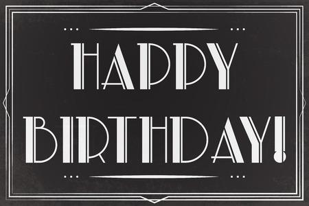 happy birthday greeting card, illustration vector format
