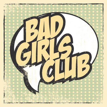 bad girl: bad girl card, illustration in vector format