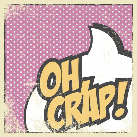 curse: curse pop art background, illustration in vector format