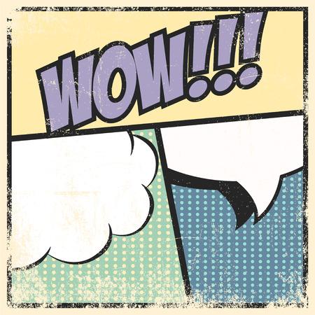 zonk: pop art text bubble, illustration in vector format Illustration