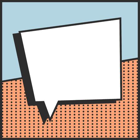 pop art text bubble, illustration in vector format Illustration