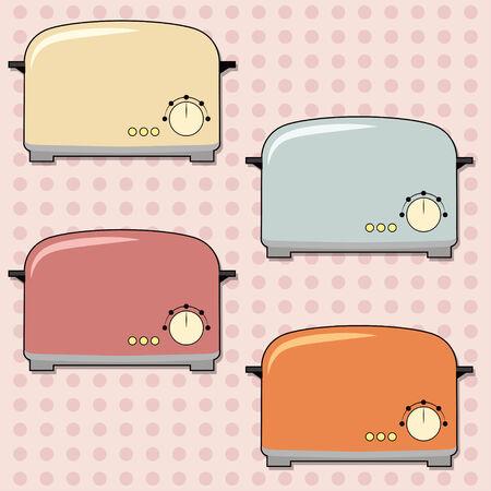 retro toaster background, illustration in vector format Illustration