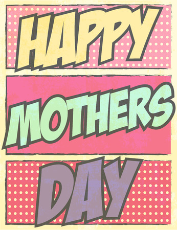 mom and pop: happy mothers day, illustration in vector format Illustration
