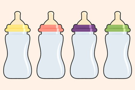 Babyflasche Hintergrund, Illustration im Vektorformat Vektorgrafik