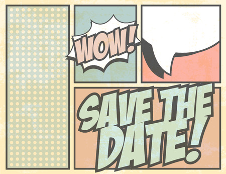save the date: save the date, illustration in vector format Illustration