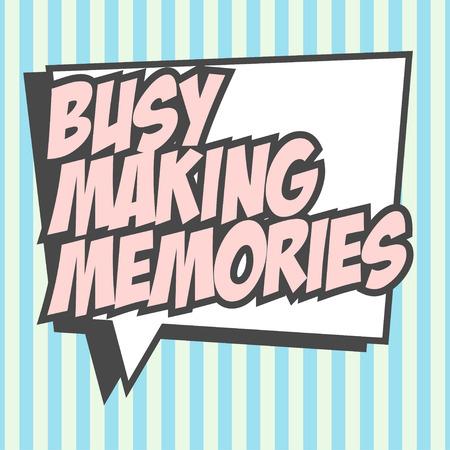 bezig met het maken herinneringen illustratie