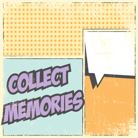 collect: collect memories background illustration