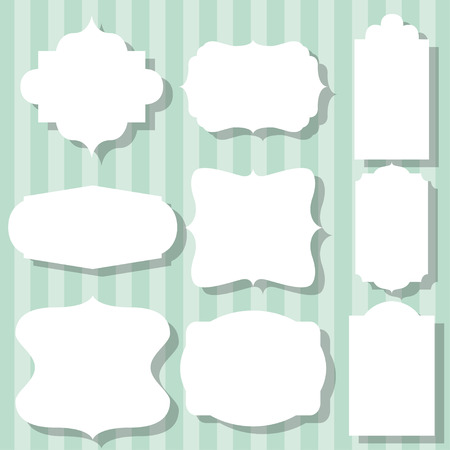 simple frames set, illustration in vector format