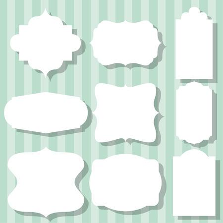 simple frames set, illustration in vector format