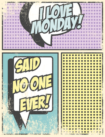 I love monday, illustration in vector format Vector