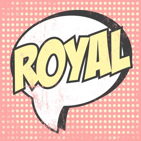 comicbook: pop art royal Illustration