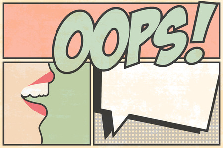 oops pop art, illustration in vector format