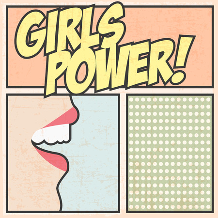 girls power background, illustration in vector format