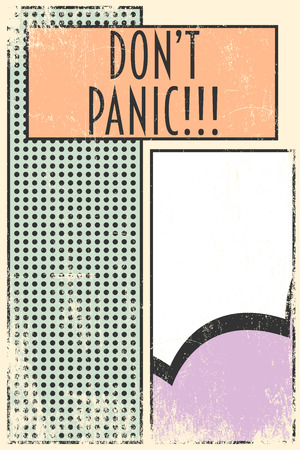 panic: dont panic background, illustration in vector format