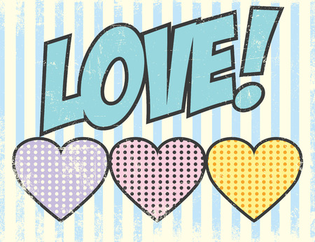 love blast: pop art love, illustration in vector format