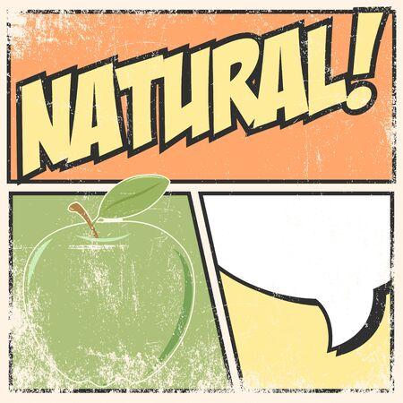 vactor: natural pop art, illustration in vactor format