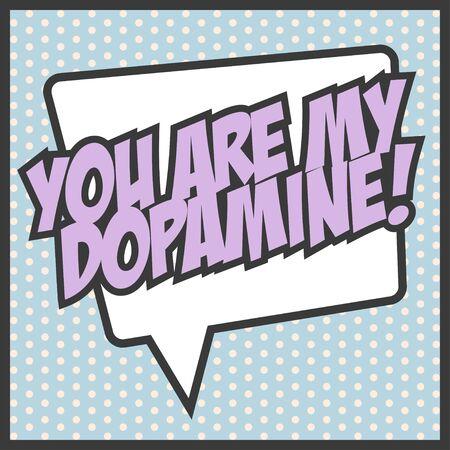 neurotransmitter: my dopamine background, illustration in vector format