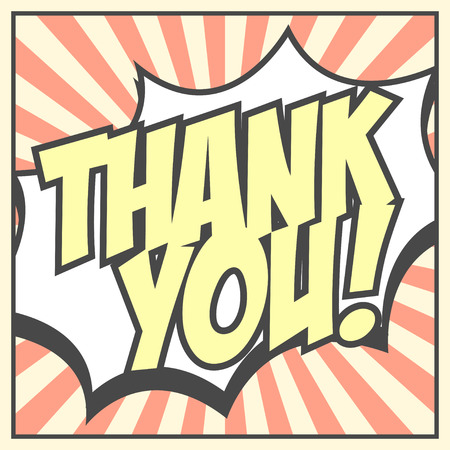 thank you background, illustration in vector format