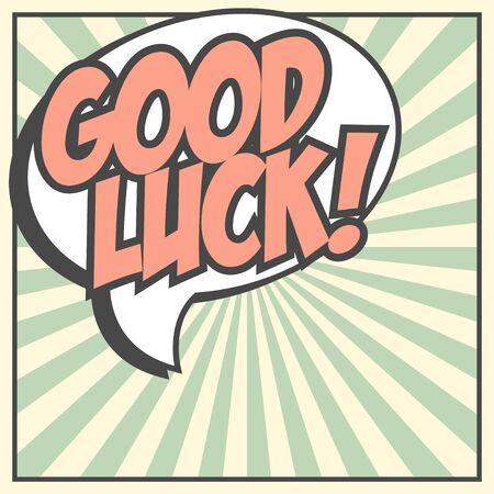 good luck achtergrond, illustratie in vector-formaat Stock Illustratie