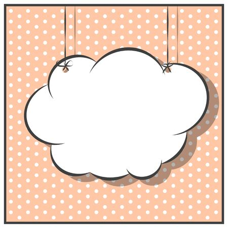 pop art text bubble, illustration in vectorf ormat
