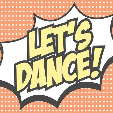lets dance background, illustration in vector format Çizim