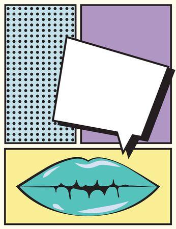 pop art mouth, illustration in vector format Illustration