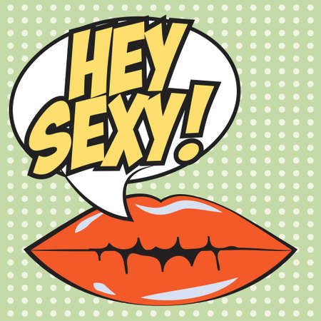 bage: hey sexy background, illustration in vector format