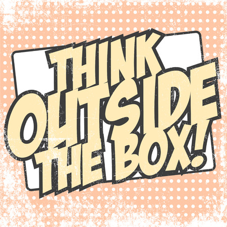 think outside the box, illustration in vector format Vectores