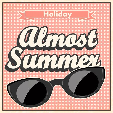 format: almost summer background, illustration in vector format