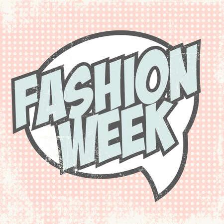 fashion week: fashion week background, illustration in vector format