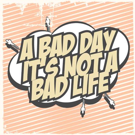 cherish: a bad day, illustration in vector format