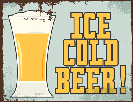 ice cold beer, illustration in vector format