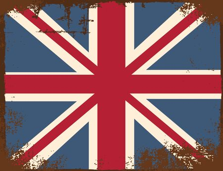 identidad cultural: united kingdom flag, illustration in vector format