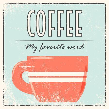 coffee retro background, illustration in vector format Vector