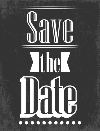 be married: save the date, illustration in format