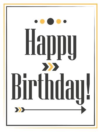 happy birthday card, illustration in format