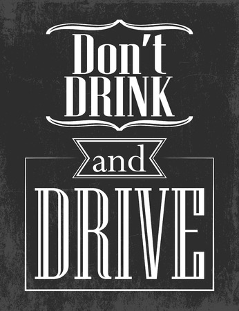 don't drink and  drive, illustration in format Vectores