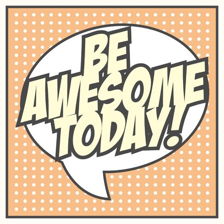 be awesome background, illustration in vector format