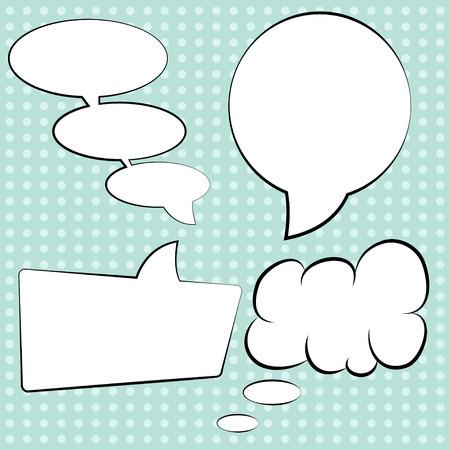 illustrates: pop art text bubbles, illustration in vector format Illustration