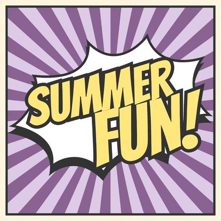 summer fun: summer fun background, illustration in vector format