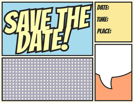save the date, illustration in vector format Vectores