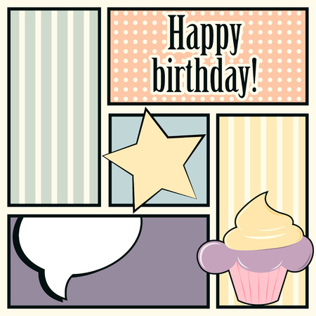 Happy Birthday Card Illustration In Vector Format Royalty Free