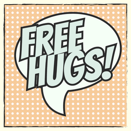 hugs: free hugs background, illustration in vector format