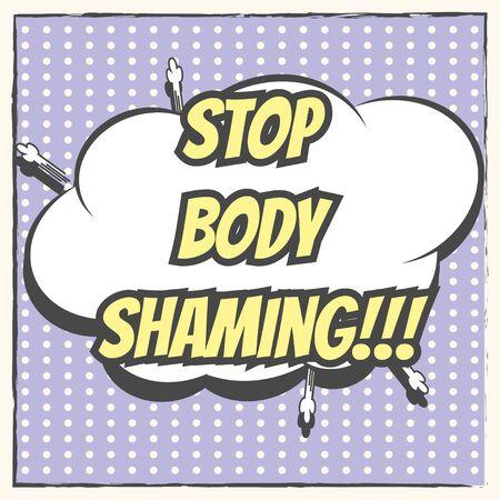 shaming: love your body, illustration in vector format Illustration