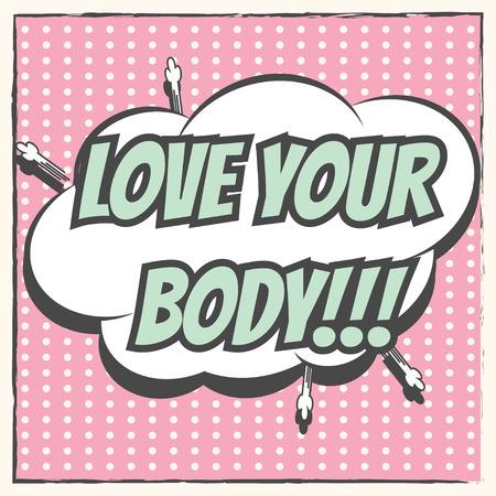 당신의 몸, 벡터 형식으로 그림을 사랑해 일러스트