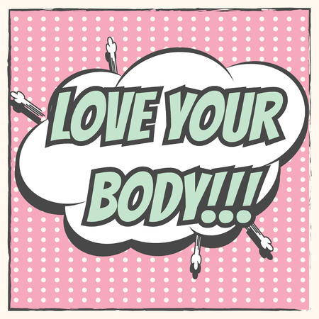 love your body, illustration in vector format Illustration