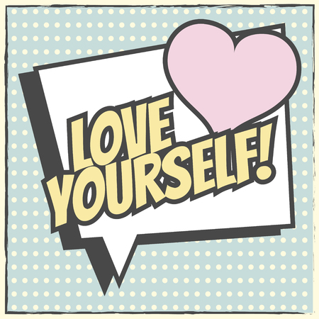 love yourself background, illustration in vector format Vectores