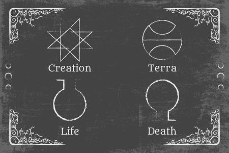alchemie magische symbool
