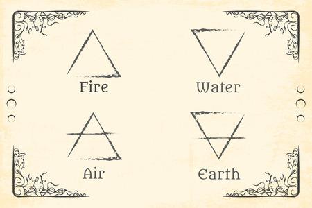 alchimie symbole magique Vecteurs
